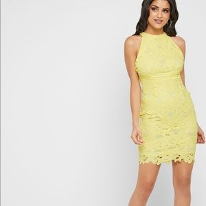 Missguided Lace Halter Dress